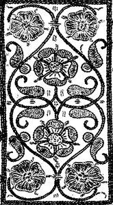 Centre of 16th century book design